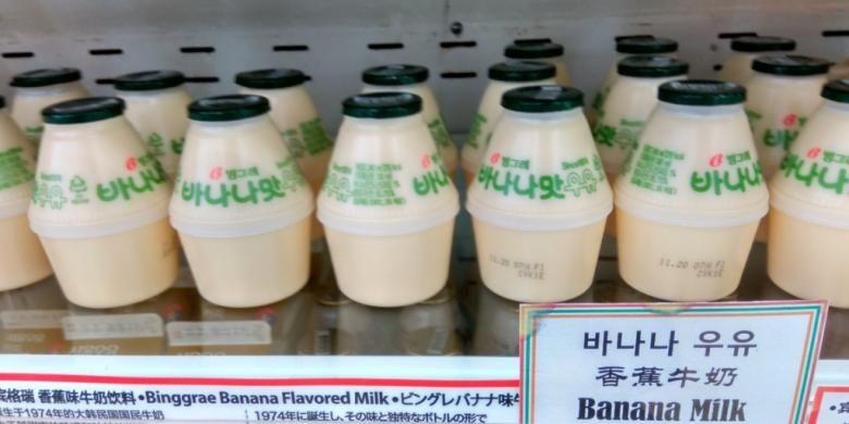 Susu rasa pisang yang terkenal di Korea Selatan.
