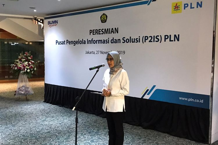 Plt Direktur Utama PLN, Sripeni Inten Cahyani di kantornya, Jakarta, Rabu (27/11/2019).