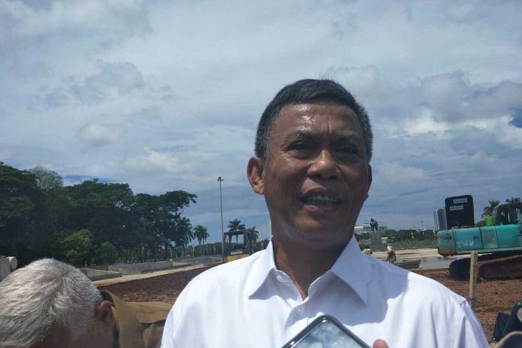 Ketua DPRD DKI Jakarta Prasetio Edi Marsudi, di Monas,Jakarta Pusat, Senin (27/1/2020).