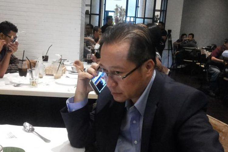 Salah satu anggota tim kuasa hukum Ahok, Humprey Djemat saat ditemui di kawasan Jalan Cik Ditiro, Menteng, Jakarta Pusat, Rabu (1/2/2017).
