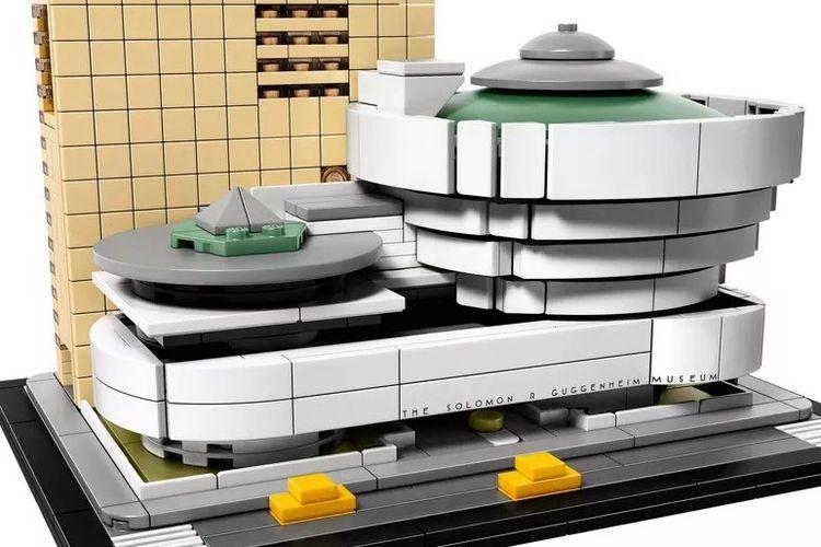 Miniatur Museum Solomon R Guggenheim yang baru saja dirilis Lego.