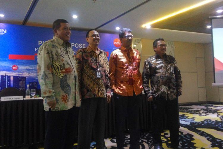 Direksi PT Adhi Karya (persero) Tbk saat di Jakarta, Kamis (29/11/2018).