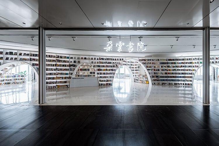 Laboratorium Wutopia desain toko buku Duyon di Menara Shanghai, Cina.
