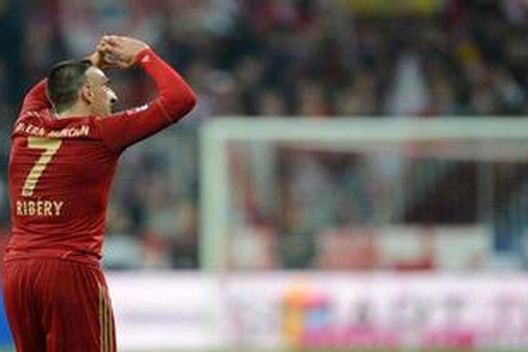 Pemain sayap Bayern Muenchen, Franck Ribery.