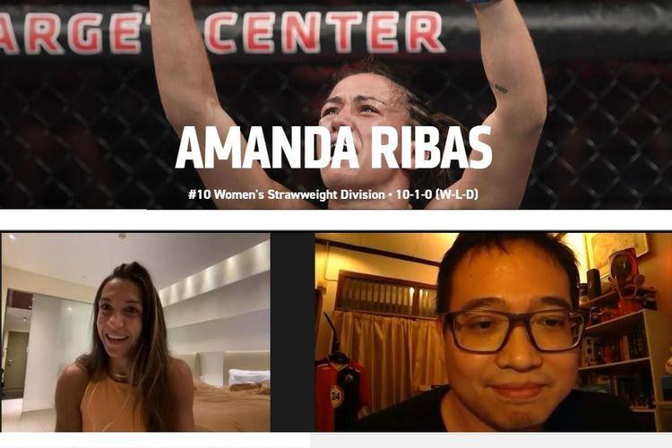 Wawancara KOMPAS.com dengan atlet UFC asal Brasil, Amanda Ribas.