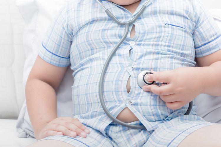 Ilustrasi obesitas yang memengaruhi tekanan darah tinggi.