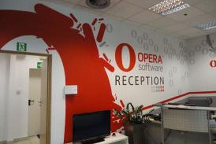 Salah satu ruangan di kantor Opera Software di Oslo, Norwegia