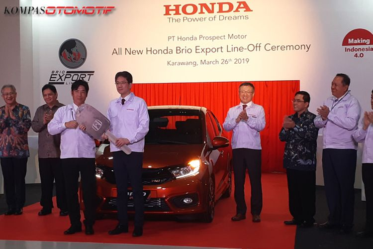 Ekspor perdana All New Honda Brio