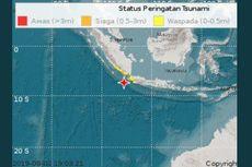 Prediksi Ketinggian Gelombang Tsunami di Wilayah Siaga hingga 3 Meter