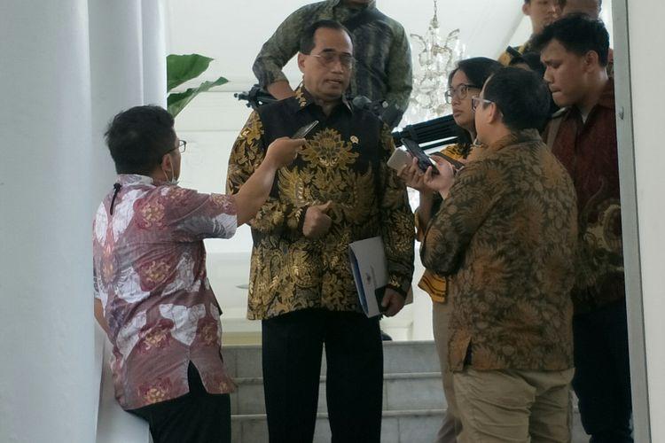 Menhub Budi Karya Sumadi usai Sidang Kabinet Paripurna di Istana Bogor