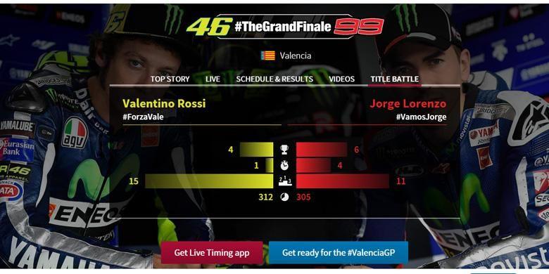 Persaingan Lorenzo dan Rossi plus bumbu drama siap disajikan di seri terakhir MotoGP 2015 di Valencia.