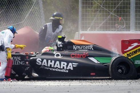 Perez Balik Tuding Massa sebagai Penyebab Kecelakaan