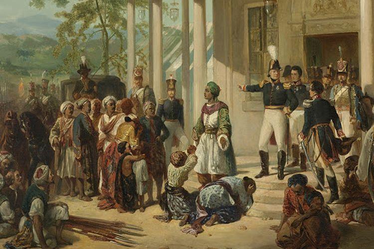Ilustrasi masa penjajahan kolonial di Indonesia.