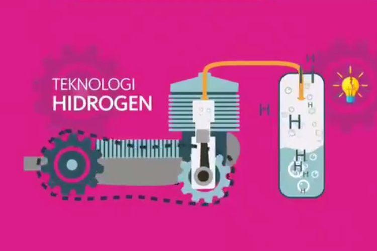 Konten video yang diunggah akun Twitter @Lipiindonesia tentang teknologi skuter hidrogen.