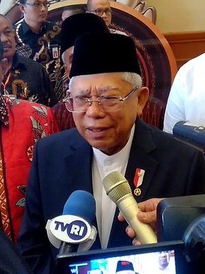 Wakil Presiden Maruf Amin usai membuka acara Munas V Adeksi di Mataram, NTB, Rabu (11/3/2020).