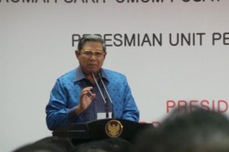 Presiden Susilo Bambang Yudhoyono saat peresmian unit pelayanan terpadu kesehatan mata RSCM Kirana di Jakarta, Kamis (4/7/2013).