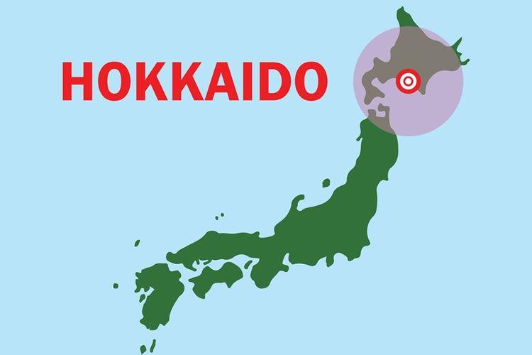 Peta Jepang yang menunjukkan Hokkaido. (Shutterstock)