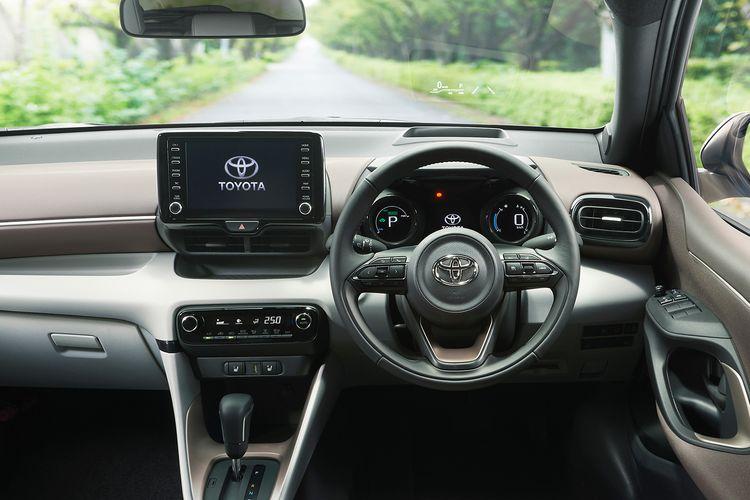Desain interior bagian dasbor dari Toyota Yaris generasi keempat