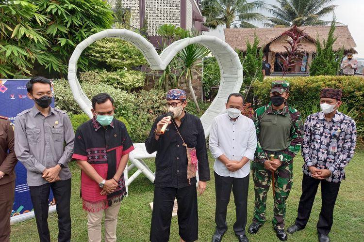 Sandiaga Uno dalam kunjungannya ke Kabupaten Lebak, Banten, Jumat (20/8/2021)