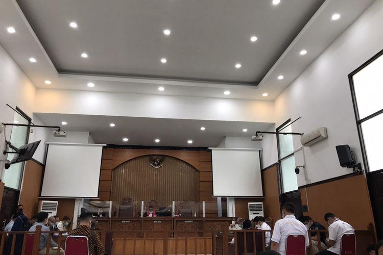 Sidang praperadilan kasus kerumunan dan penghasutan Rizieq Shihab di Pengadilan Negeri Jakarta Selatan, Selasa (12/1/2021).