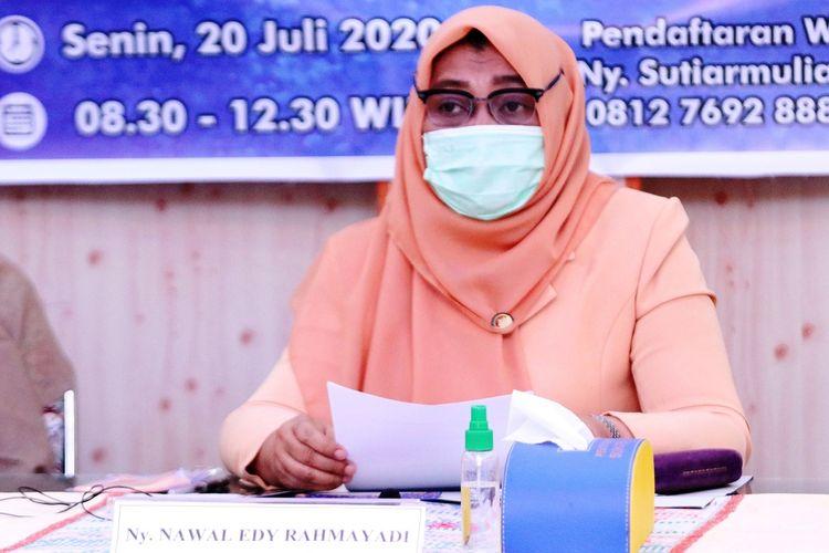 Penasihat DWP Provinsi Sumut Nawal Lubis dalam workshop virtual Kupas Tuntas Stunting yang digelar DWP Provinsi Sumut,Senin (20/7/2020)