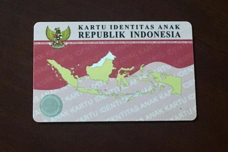 Penampakan Kartu Identitas Anak di Kota Denpasar, Bali, Selasa (27/12/201).