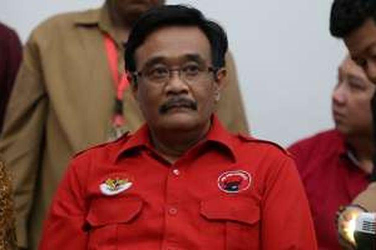 Bakal calon wakil gubernur petahana DKI Jakarta Djarot Saiful Hidayat di Kantor DPP PDI Perjuangan, Jakarta, Senin (20/9/2016). PDIP secara resmi mengusung Ahok dan Djarot untuk maju dalam Pilkada DKI 2017 mendatang.