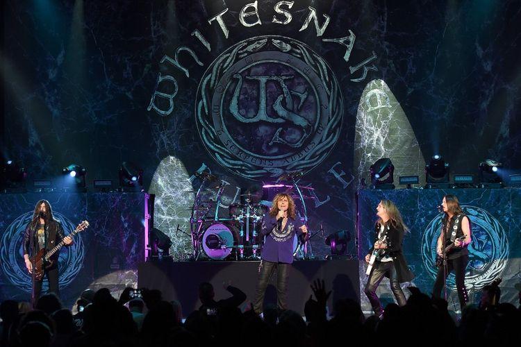 Band asal Inggris Whitesnake tampil di The Joint di dalam Hard Rock Hotel & Casino di Las Vegas, Nevada, pada 4 Juni 2015.