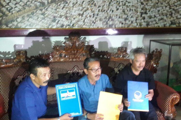 Haryo Dewandono dan Irawan Prasetyadi maju pada Pilkada Temanggung 2018, yang diusung Partai Nasdem, Demokrat, dan Hanura, Senin (8/1/2018).
