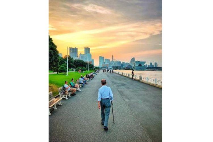 Pemandangan di sekitar Yokohama kala sore hari