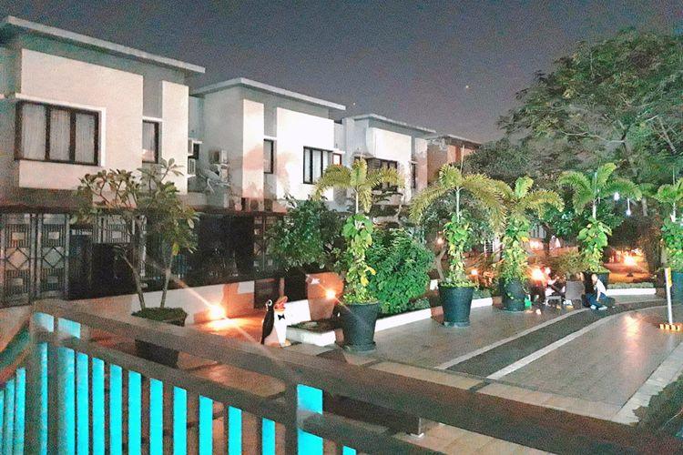 Komplek perumahan di atas mal dan apartemen Thamrin City, Jakarta Pusat, Selasa (25/6/2019)