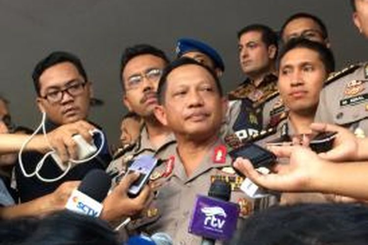 Kapolda Metro Jaya Inspektur Jenderal Polisi Tito Karnavian memberi keterangan usai menemui perwakilan sejumlah Kedutaan Besar di Mapolda Metro Jaya, Rabu (18/11/2015) sore.