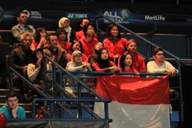 para pendukung tim INdonesia di Barclaycard Arena, Birmingham