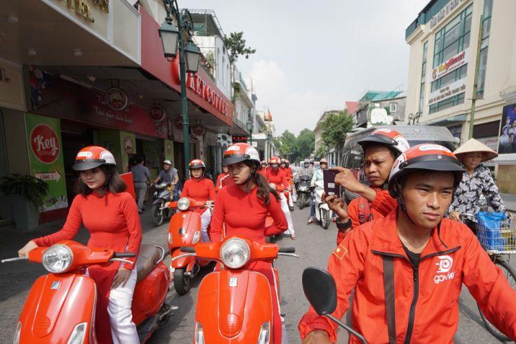 Grand launching GoViet, layanan ojek online Go-Jek di Vietnam.