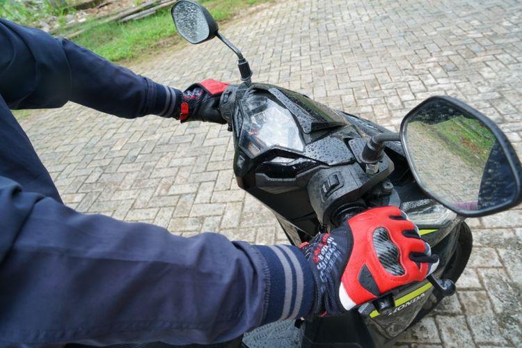 Ilustrasi sarung tangan berkendara