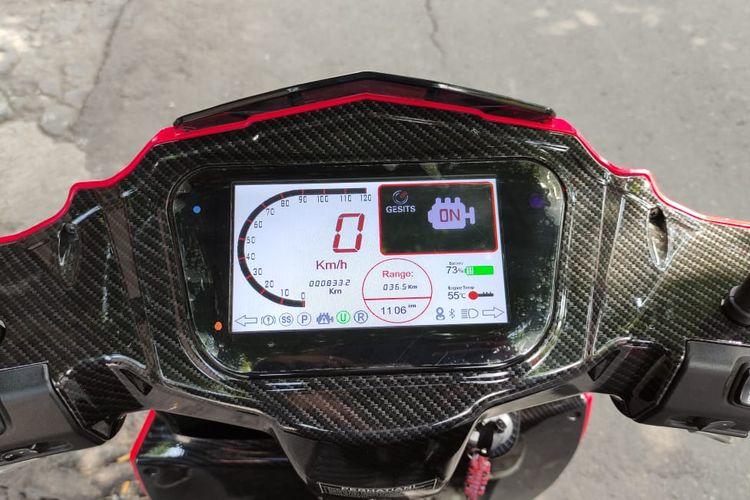 Tampilan Speedometer Gesits