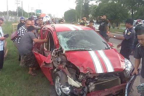 Terlibat Kecelakaan di Ogan Ilir, Pegawai Unsri dan Anaknya Terluka