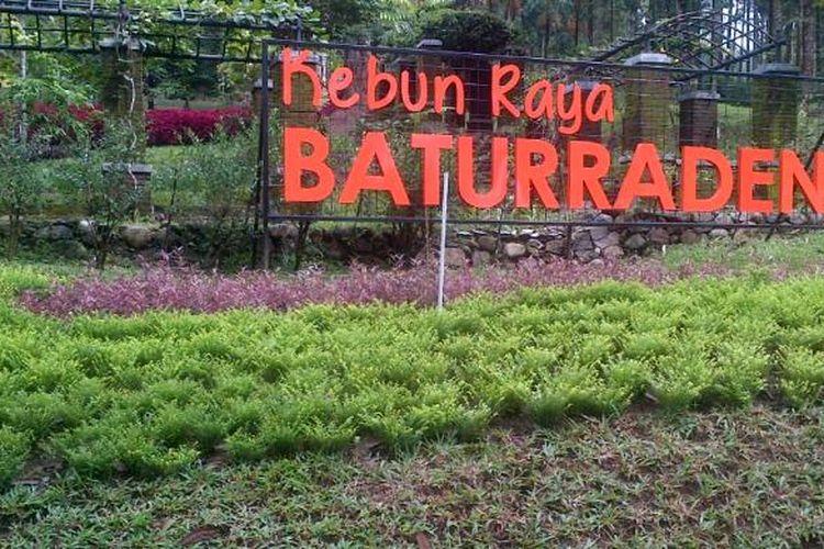 Kebun Raya Baturraden di kawasan wisata Baturaden, Purwokerto, Jawa Tengah