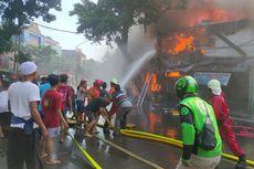 40 Rumah Terbakar di Jalan Payakumbuh Setiabudi, Jakarta Selatan