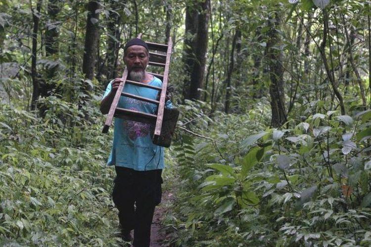 Musimin sudah lebih dari 20 tahun membudidayakan anggrek hutan Gunung Merapi.