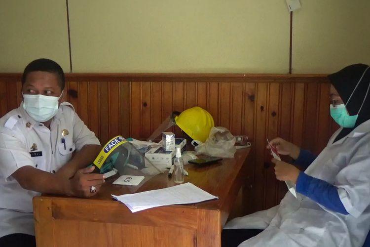 Gugus Tugas Kota Parepare, Lakukan Rapid Tes Sejumlah Pegawai di Dinas Kesehatan Kota Parepare, SUlawesi Selatan