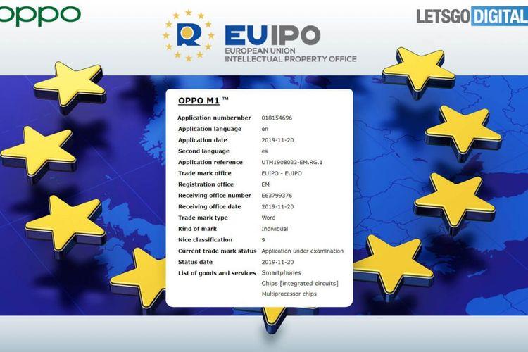 Dokumen paten Oppo M1.