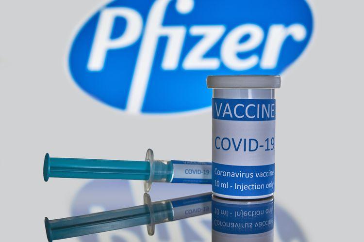 Ilustrasi vaksin Covid-19 Pfizer.