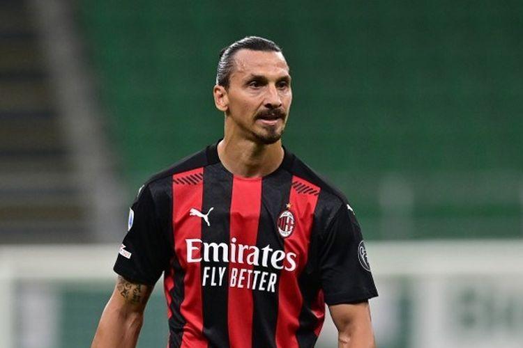 Penyerang Swedia di AC Milan Zlatan Ibrahimovic.