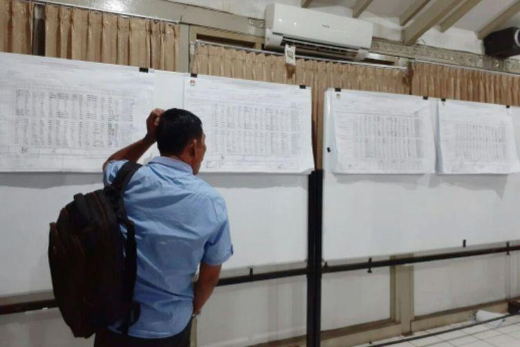 Suasana di kantor KPU Kota Yogyakarta usai proses rekapitulasi yang selesai pada Kamis (02/05/2019)
