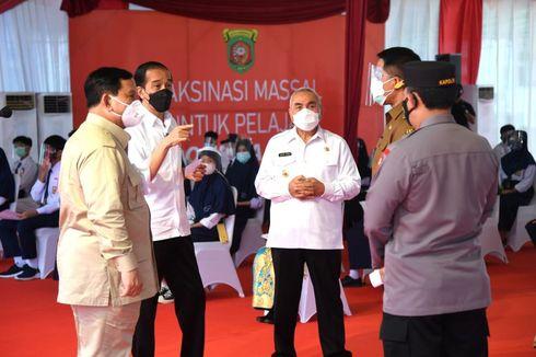 Dampingi Jokowi ke Kaltim, Prabowo Ikut Tinjau Vaksinasi hingga Beri Pengarahan Gubernur