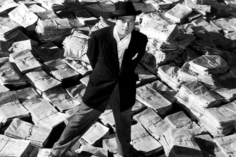 Orson Welles dalam film klasik ternama Citizen Kane.