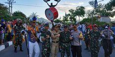 Ratusan Calon Perwira Membaur dengan Masyarakat Trenggalek