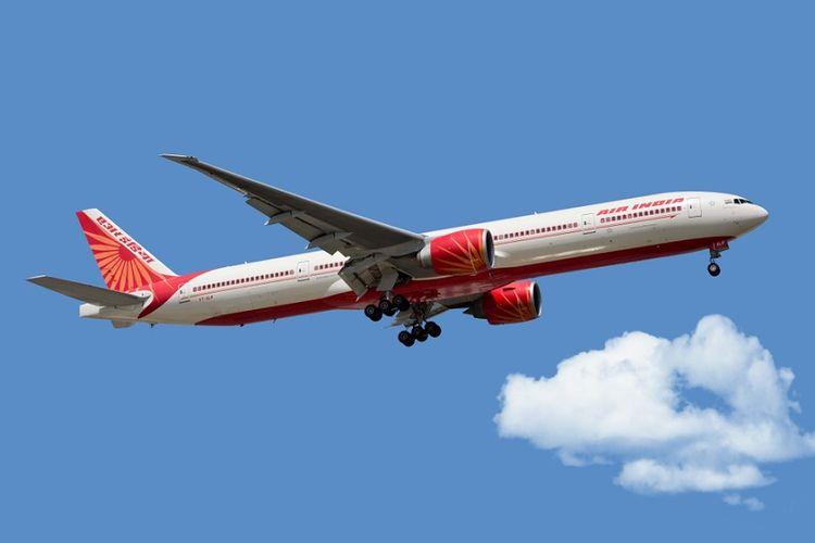 Ilustrasi pesawat Air India.