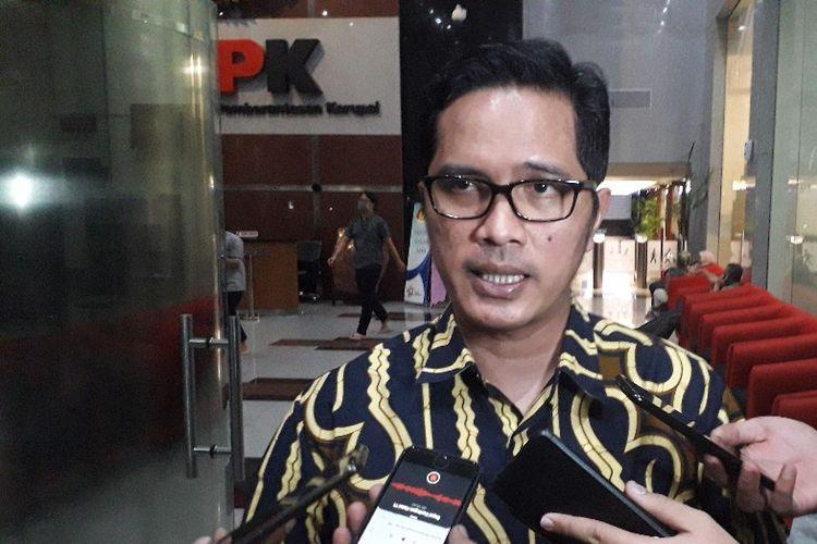 Juru Bicara KPK Febri Diansyah memberi keterangan di Gedung KPK, Rabu (14/8/2019).